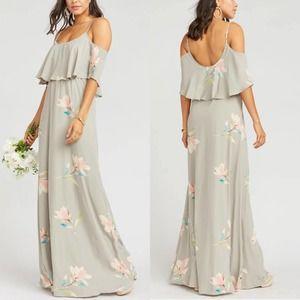 Show Me Your Mumu Caitlin Ruffled Maxi Dress NWT S